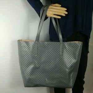 J.Crew Perforated Laser Cut Faux Leather Tote